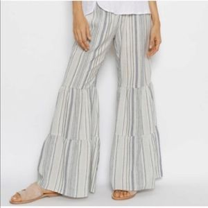 Drew striped palazzo pants tiered bell bottom NWT
